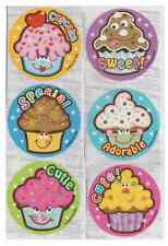 """20 Cute Cupcake Scented Stickers, 2.5""""x2.5"""" ea., Party Favors"""