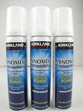 3 Months Kirkland Minoxidil 5% FOAM Mens Hair Loss Regrowth Treatment Exp 12/17