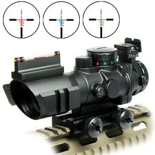 Original New 4X32 Red/Green/Blue Rifle Scope with Fiber Optic Sight BDC Recticle