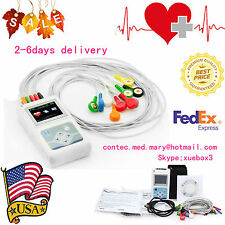12 Channel ECG Holter ECG/EKG 24H Holter EKG Monitor+ Software,TLC5000,US Seller