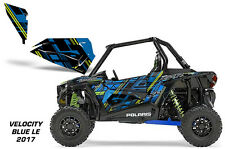 AMR Racing Graphic Wrap Kit Polaris RZR 1000 UTV Door Inserts 2017 VELOCITY BLUE