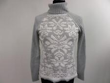 "Women St John Bay Vntg Snowflake Knit Novelty Jumper 34"" Multi Grade A BA408"