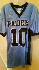 ***VINTAGE RUSSELL RAIDERS JERSEY #10 SEWN CAROLINA BLUE SIZE L****