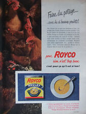PUBLICITÉ 1957 POTAGE ROYCO POULET AU VERMICELLE - ADVERTISING