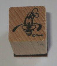Goofy Rubber Stamp Disney Dog Hat Wood Mounted Mini Characters 3/4""