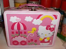 Hello Kitty-Birds & Flowers`2013`By Sanrio Co,`Metal Lunchbox`New-:>Free To US