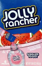 4 Pack - Jolly Rancher SUGAR FREE Singles To Go Drink Mix: Watermelon, 6 Count