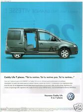 Publicité advertising 2005 VW Volkswagen Caddy Life 7 places