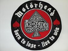 MOTORHEAD BORN TO LOSE - LIVE TO WIN        EMBROIDERED BACK PATCH