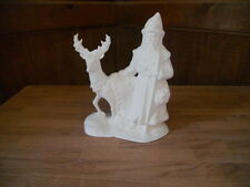 C-0041Ceramic Bisque U Paint Old World Victorian Christmas Santa with Large Deer