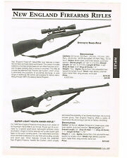 NEW ENGLAND FIREARMS RIFLES, PEDERSOLI RIFLE WITH SPECIFICATIONS/PRICES 1999 AD