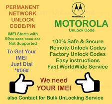 Motorola network unlock PIN/CODE For Motorola PEBL U6 - via IMEI