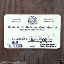 5 Original CIVIL DEFENSE HOMEFRONT WORLD WAR II Commission Membership Card