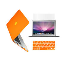 "3 in 1 Rubberized ORANGE Case for Macbook PRO 13"" + Keyboard Cover +  LCD Screen"
