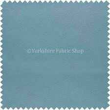 Soft Faux Leather Thick Durable PU Upholstery Fabric Leatherette Light Sky Blue