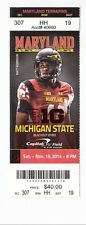 2014 MARYLAND TERRAPINS VS MICHIGAN STATE SPARTANS TICKET STUB 11/15
