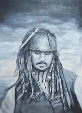 "perfect 24x36 oil painting handpainted on canvas "" Pirate Captain""@N1666"