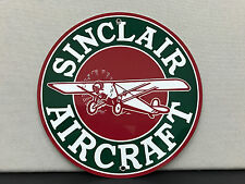 Sinclair Aviation Aircraft vintage advertising sign garage man cave round
