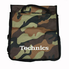 Technics Dj Record Bag Ruck Sack 50 vinyl LP Camouflage Brown  SL 1200 SL 1210