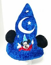 DISNEY PARKS MICKEY MOUSE SORCERER PLUSH EARS WIZARD HAT  MOON & STARS NOVELTY