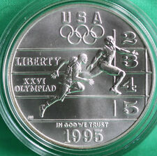 1995 Olympic Track & Field BU Silver Dollar Commemorative US Mint Coin ONLY