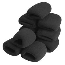 10Pcs Black Microphone Grill Foam Cover Audio Mic Shield Sponge Cap Holder