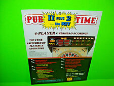 Merit PUB TIME Kit Original Vintage 1989 Coin-Op Darts Arcade Game Sales Flyer