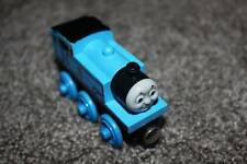 Thomas the Train Tank Engine Wooden Railway & Friends Smiling 2003 Wood Toy Blue