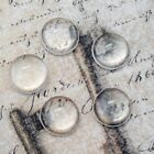 50 x Round Domed 12mm Clear Glass Cabochons - Transparent