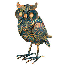 Antiqued Patina Owl Decor