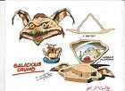 STAR WARS Salacious Crumb+JABBA +Hooka GALOOB X-Section Color Guide E. McCarthy