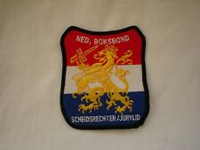 2012 London - Netherland Boxing Federation Referee embroidered patch