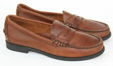 SEBAGO Handsewn Penny Loafers Soft Brown Leather, Size 6.5