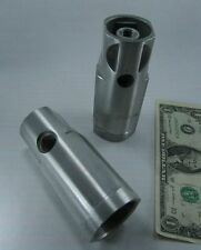 Lot 2 Unknown Metal Adapters, or Gas Burner Nozzle Housings, or Industrial Parts
