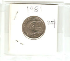 Offer Singapore 20 cents 1981  Fish coin  lustre/high grade! ??