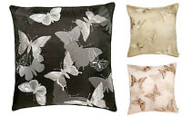 """Luxury Butterfly Cushion, Embroidered Scatter Cushions, 18""""x 18""""/ 45 x 45 cms"""