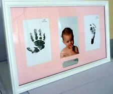 BABY GIRL KEEPSAKE HAND/FOOT PRINT PHOTO FRAME CHRISTENING BABY SHOWER GIFT BNIB