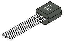 10x Transistor PNP BC557 - TO-92