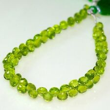 "Full 8"" Strand Fine Quality PERIDOT Gemstone Drilled Faceted ONION Briolette"