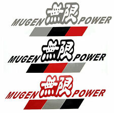 MUGEN POWER Car Vinyl Sticker Decal Silver/ Red/ White/ Black
