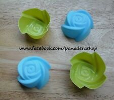4pcs Rose Bento Tools Puto Jelly Cupcake Chocolate Baking Pan Molder Mold Cups