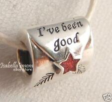LETTER TO SANTA Authentic PANDORA Silver/Red Enamel CHRISTMAS Charm/Bead NEW