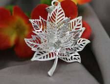 NEW 925 Silver Plated Maple Leaf Fashion Necklace Pendant HQ