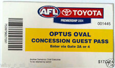 2004 Season OPTUS OVAL Concession Guest Pass Ticket CARLTON BLUES