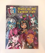 Monster High Color Activity Sticker Book Make Up and Fashion Style 2015 NEW
