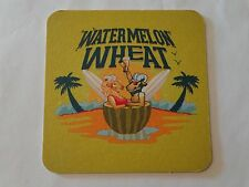 Beer Bar Coaster ~ HORNY GOAT Brewing co Watermelon Wheat ~ Milwaukee, WISCONSIN