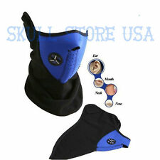 NEOPRENE SKI FACE MASK WINTER NECK EAR WARMER SNOWBOARD MOTORCYCLE VELCRO BLUE