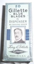 vintage 20 Vintage gillette bLUE Safety Razor Blades double edge new box pack