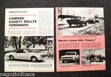 AZ72 - Clipping-Ritaglio -1967-  IMPRESSIONI DI GUIDA CAMARO KADETT RALLYE