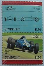 1967 EAGLE WESLAKE TYPE 58 GP F1 Car Stamps (Leaders of the World / Auto 100)